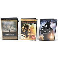 "(3) Lot War Theme DVD Lot ""Saving Private Ryan SE"" Black Hawk Down Act of Valor"