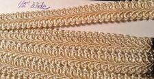 Antique Vintage Silk Soutache Braided Trim Double Cord On Base Ivory
