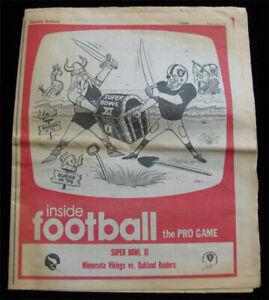 Oakland Tribune _SUPER RARE Football 1977 Bowl XI Raiders Vikings - Ken Stabler