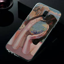 For Samsung J4 J6 Plus A7 A8 A9 2018 Painted Soft Silicone TPU Phone Cover Case