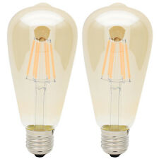 2er E27 6W LED Filament Edison Vintage Glühlampe Retro Glühbirne Lampe  2300K