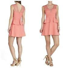 BCBG MAXAZRIA Leann Lace Applique V-Neck Dress Size 8 Sleeveless Semi Formal NWT