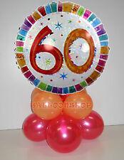 Kit centrotavola palloncini MYLAR 60 ANNI personalizzato tuo nome, base, torta