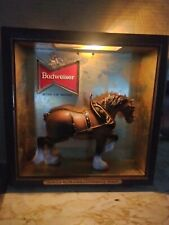 Vintage Budweiser Clydesdale display light