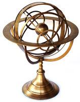 """18 """"große voll nautische Messing Armillarsphäre graviert Astrolabe Weltkugel"""