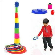 Kids Children Outdoor Plastic Ring Toss Quoits Garden Game Toy Play Set Pack Fun