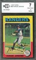 Ferguson Jenkins Card 1975 Topps #60 Texas Rangers BGS BCCG 7