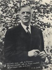 Général Charles de Gaulle France Photo Argentique Silver Print Vintage N1