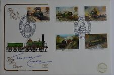 1985 Terence Cuneo el primer día cubierta Firefly proyecto Firmado FDC