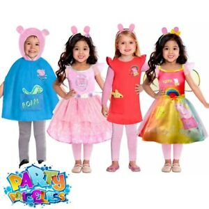 Kids Peppa Pig Costume Boys Girls  George Pig Fancy Dress TV Book Childs Outfit