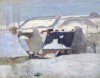 Pont-aven Under The Snow Paul Gauguin Cityscape Painting Print on Canvas Small
