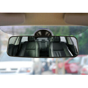 Universal Car SUV Interior Rear View Mirror Windshield Suction Cup Wide Flat 1x