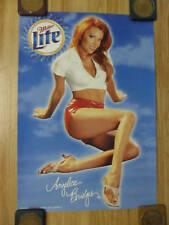 Sexy Girl Beer Poster Miller Lite ~ Angelica Bridges Baywatch TV Show HOT PANTS