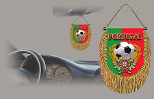 PORTUGAL SOCCER FLAG CAR MINI BANNER, PENNANT