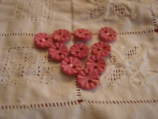 1360 MERCERIE ANCIENNE   BOUTON COUTURE ROSE CANELE 3 tailles