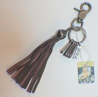 Montana West American Bling Leather And Metal Accented Key Chain Skull Tassel