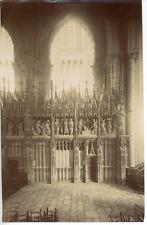France, Cathédrale de Chartres, Clôture du Chœur Vintage Print Tirage albuminé