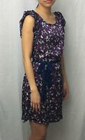 Women's FRANCESCA'S Purple Floral Pattern Mini DRESS Top Size Small XS MINT