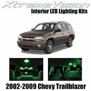 XtremeVision Interior LED for Chevy Trailblazer 2002-2009 (16 PCS) Green