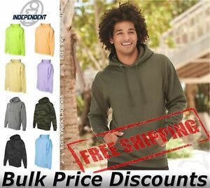 Independent Trading Co Mens Hooded Pullover Sweatshirt IND4000 up to 3XL