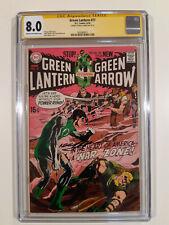 Green Lantern 77  CGC 8.0  signed Neal Adams   2nd Adams/O'Neil team-up  (1970)