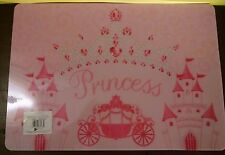 "Disney Princess Plastic Placemat 12"" x 17"" Girls 3 yrs + New 2013"