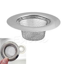 Filter Sieve Stainless Bath Basin Strainer Food Mesh Sink Trap Plug Hole Cover