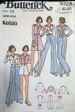 Vtg 1970s Butterick 3029 Kenzo Designer Separates Sewing PATTERN 9 JP 33B UnCUT