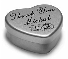 Say Thank You Michal With A Mini Heart Tin Gift Present with Chocolates