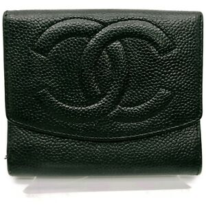 Chanel Wallet  Black Leather 706501