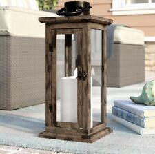 Beachcrest Home Rustic Wooden Lantern