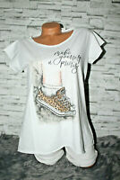 Italy New Collection T-Shirt weiß Sneaker Leo Jeans Gr. 36 38 40 42 blogger