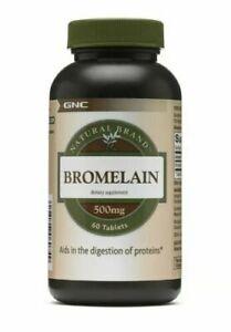 GNC Natural Brand Bromelain 500mg 60 Tablets