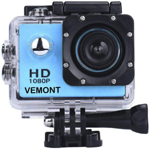 1080P 12MP Sports Camera Full HD 2.0 Inch Action Cam 30m 98ft Underwater NEW
