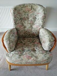 Ercol Blonde Wood Jubilee Armchair