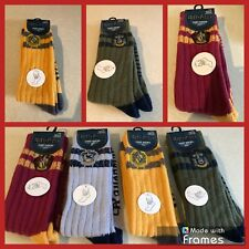 HARRY POTTER SLOUCH SOCKS.COSY SOCKS WITH GRIPPERS..SIZE 4-8.ALL HOUSES.HOGWARTS