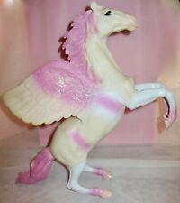 "Glittering Pink Pegasus Horse Toys R Us Rearing Pose 13"" ~ 2005 ~ Rare Color! 00006000"