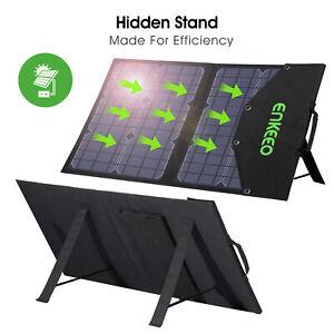 ENKEEO 50W Solar Faltbares Ladegerät Tasche 10 in 1 Anschluss mit MPPT