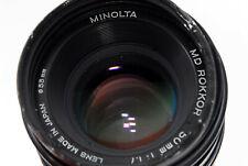[Come È ] Minolta Md Rokkor 50mm F/1.7 Focus Manuale Obiettivo Da Giappone