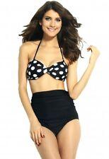 black PINUP swimwear POLKA dotBIKINI highwaist swimwear VINTAGE LOOK togs 12