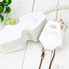30x Jewellery Tags Display Card Packaging Label Necklace Ring Bracelet Earrings