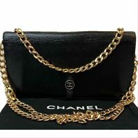 AUTHENTIC CHANEL Caviar Black Leather CC Snap Wallet~US SELLER