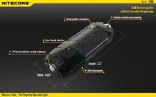 Fackel Mini Led Nitecore Tube Taschenlampe Keychain 45 Lumen Schwarz Transparent