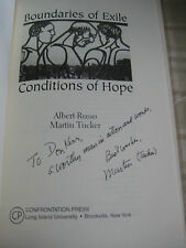 Boundaries of Exile, Conditions of Hope by Martin Tucker *SIGNED BY AUTHOR* SC