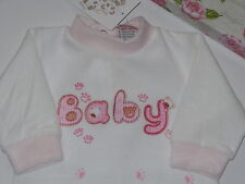 Baby Girl Pink + White Velour Coverall Just Too Cuddly Size 0000 Newborn *Gift*