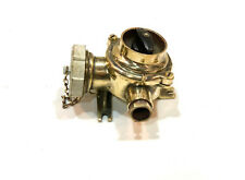Industrial Reclaimed Ex Minesweeper Brass Ship Light Switch & Socket Halloween