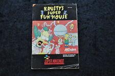 Krusty's Super Fun House Nintendo Snes Manual