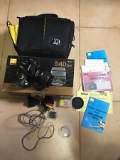 macchina fotografica Nikon Reflex D40 con custodia  scatola E Accessori