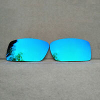 Polarized Ice Blue Mirrored Replacement Lenses for-Oakley Gascan Sunglasses