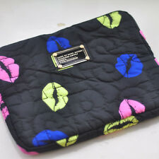 MARC BY MARC JACOBS IPAD AIR BLACK&COLORS LIPS PROTECTIVE SLEEVE CASE ZIPPER BAG